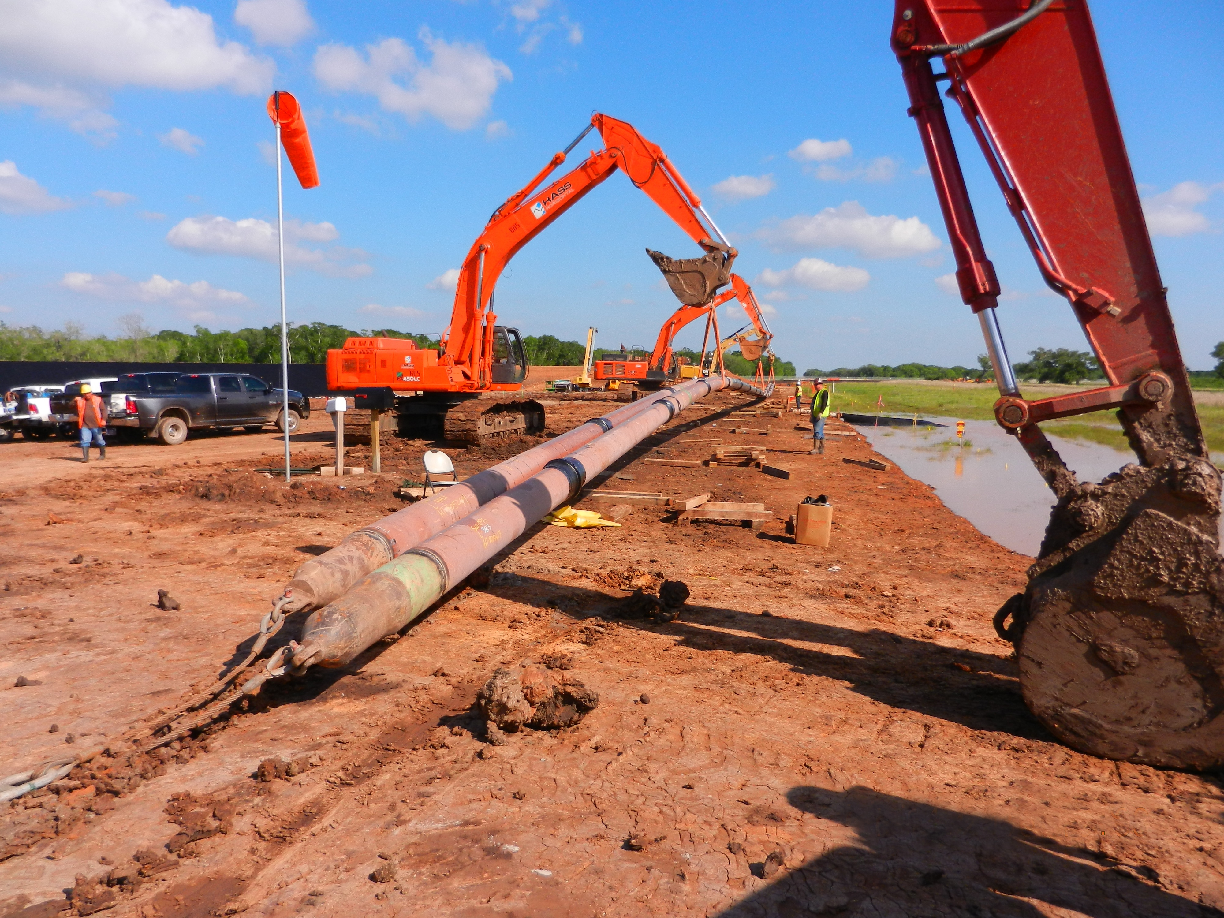 Pipeline Construction Civil Underground Utilities with HASS in Houston TX