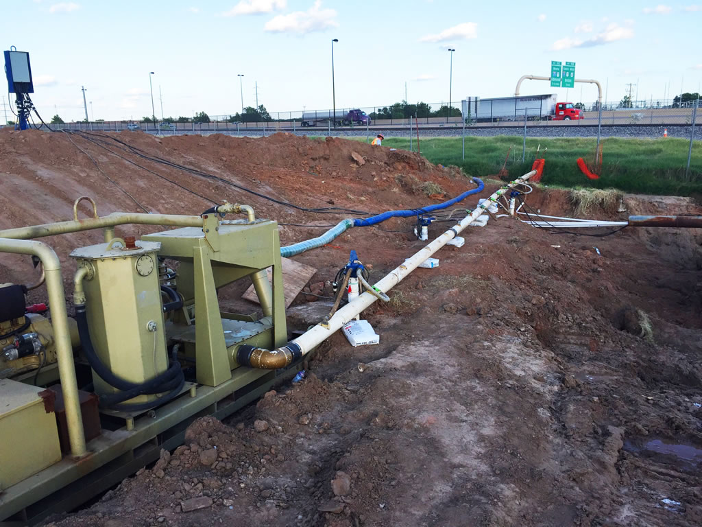 Hass dewatering excavation and ground water control near Houston TX
