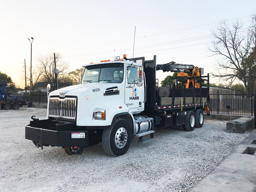 Hass Rail Equipment Rail Grapple Truck and trench shoring in Houston