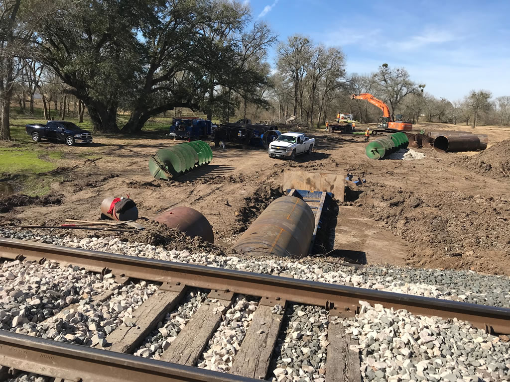 Hass Railraod Project in Houston TX with turnkey railroad solutions