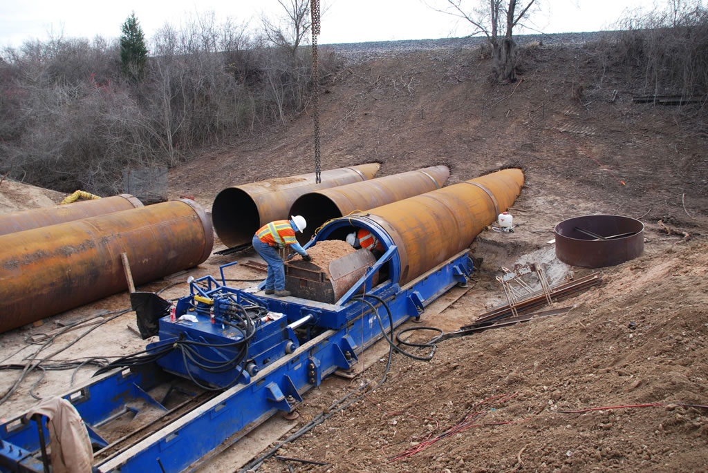 Auger Boring reinforced concrete HASS directional drilling Texas