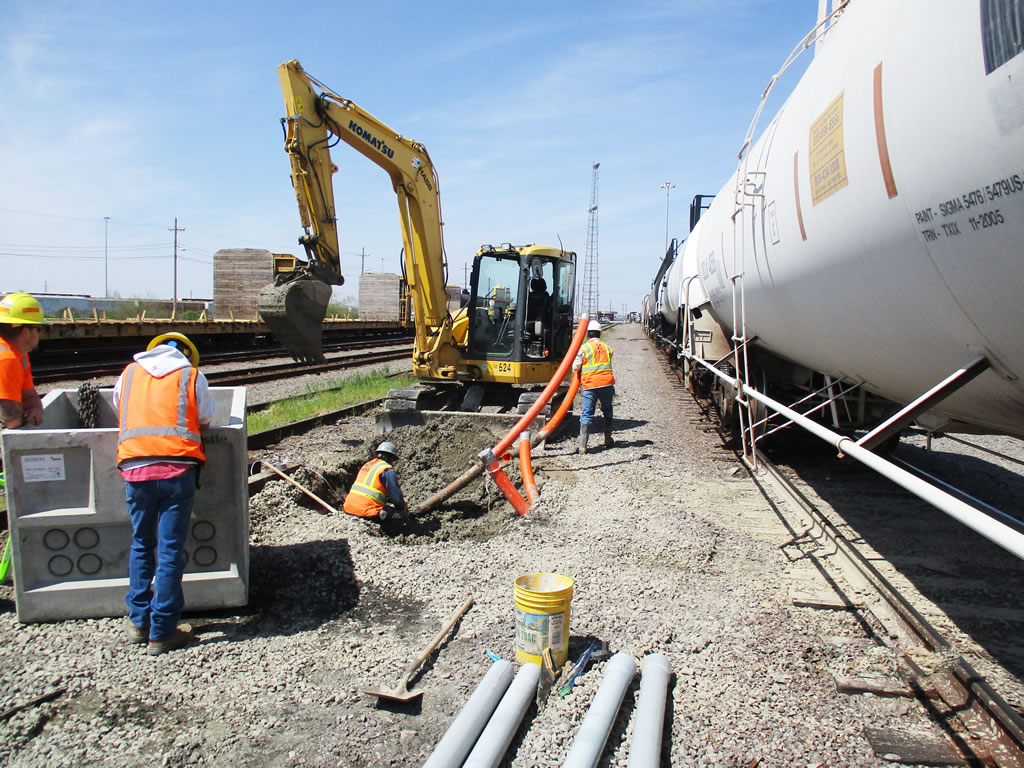 Hass Turnkey railroad soutions hydrovac and heavy civil construction in Houston TX