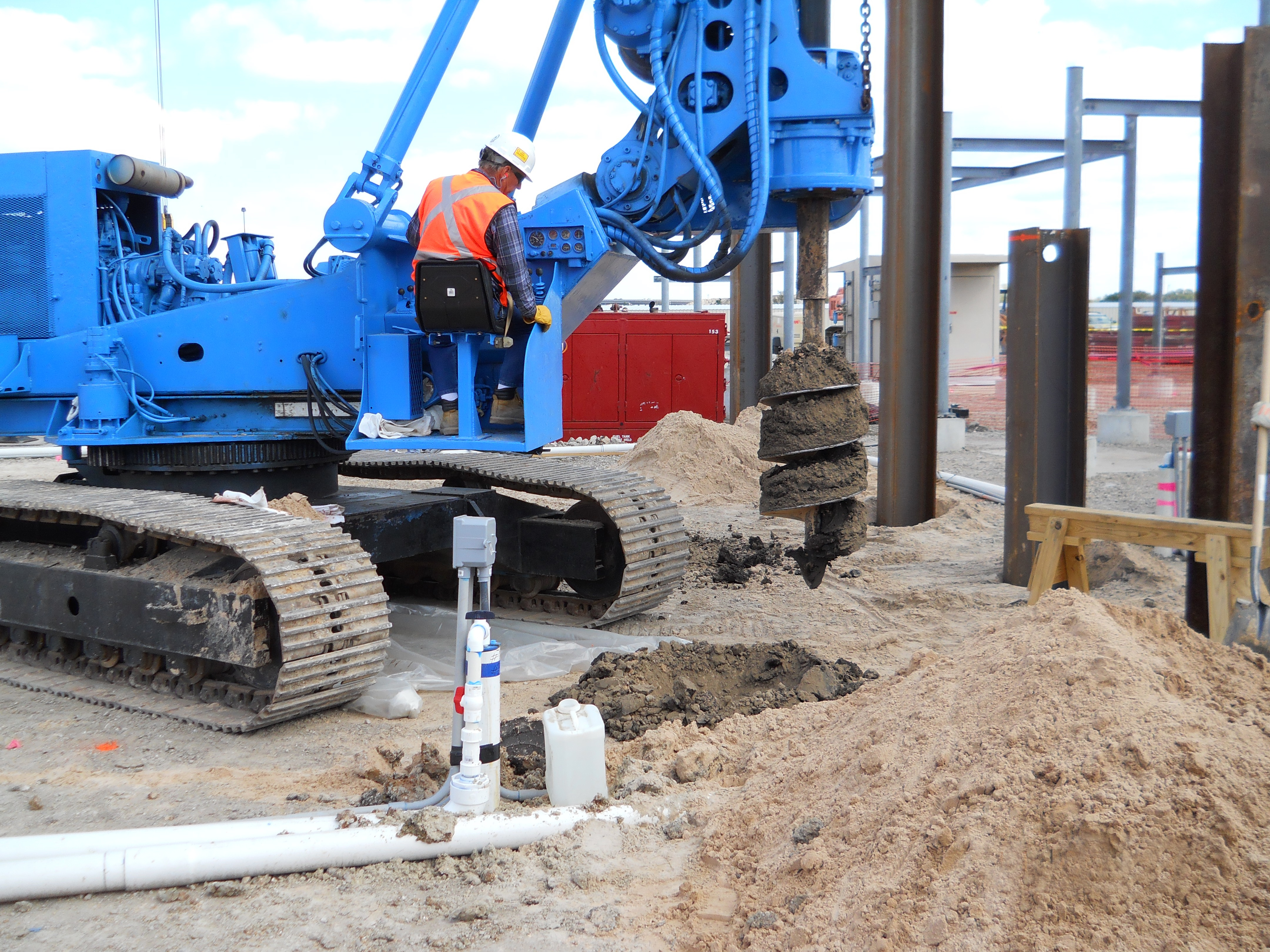 HASS Contractors and Engineers dewatering project firm ground near Houston
